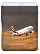 Emirates Boeing 777-36n 3 Duvet Cover