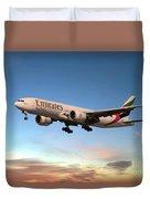 Emirates Boeing 777f A6-efm Duvet Cover
