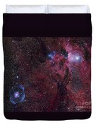 Emission Nebula Ngc 6188 Star Formation Duvet Cover