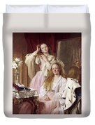 Emma And Federica Bankes Of Soughton Hall  Duvet Cover
