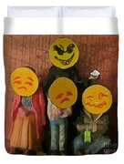 Emoji Family Victims Of Substance Abuse Duvet Cover