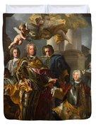 Emperor Charles Vi And Gundacker, Count Althann Duvet Cover
