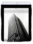 Empire State Building 1950s Bw Duvet Cover