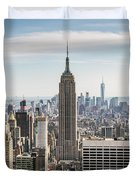 Empire State Building And Manhattan Skyline, New York City, Usa Duvet Cover