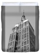 Empire State Building B W Duvet Cover