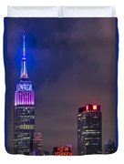 Empire State Building Esb At Night Duvet Cover