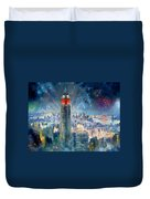 Empire State Building In 4th Of July Duvet Cover by Ylli Haruni