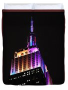 Empire State Building In Pastel Color Duvet Cover