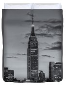 Empire State Building Morning Twilight Iv Duvet Cover by Clarence Holmes