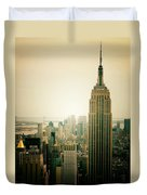 Empire State Building New York Cityscape Duvet Cover by Vivienne Gucwa