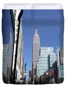 Empire State Of Mind In The Late Springtime Duvet Cover