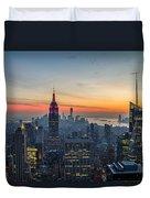 Empire State Sunset Duvet Cover