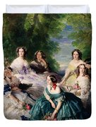 Empress Eugenie Surrounded By Her Ladies In Waiting Duvet Cover