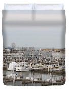 Empty Harbor Duvet Cover