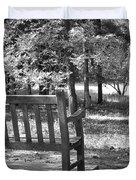 Empty Park Bench Duvet Cover