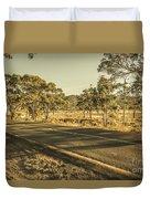 Empty Regional Australia Road Duvet Cover