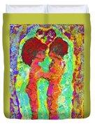 Encaustic  Love Duvet Cover