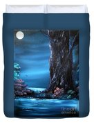 Enchanted Oak By Moonlight Duvet Cover by Cynthia Adams