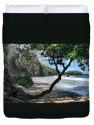 Enchanted Rocks Koki Beach Haneoo Hana Maui Hawaii Duvet Cover