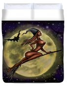 Enchanting Halloween Witch Duvet Cover