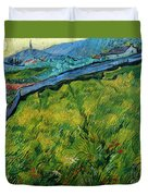 Enclosed Wheat Field With Rising Sun, By Vincent Van Gogh, 1889, Duvet Cover