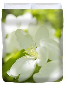 Encyclopedia Of Spring Image Apple Blossom  Duvet Cover