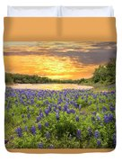 End Of A Bluebonnet Day Duvet Cover