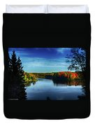 End Of The Day At The Lake Duvet Cover