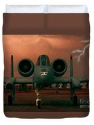 End Of The Mission Duvet Cover