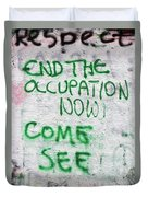 End The Occupation Now Duvet Cover