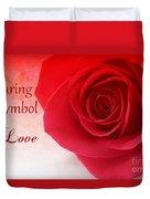 Enduring Symbol Of Love Duvet Cover