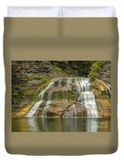 Enfield Falls Tompkins County New York Duvet Cover