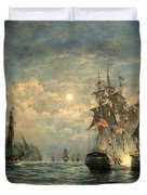 Engagement Between The 'bonhomme Richard' And The ' Serapis' Off Flamborough Head Duvet Cover