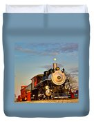 Engine 509 At Crossville Tennessee Puffing Duvet Cover