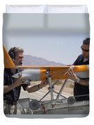 Engineers Mount A Scaneagle Unmanned Duvet Cover