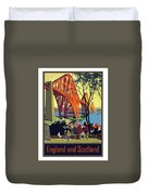 England And Scotland, Bridge Duvet Cover