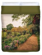 England - Country Garden And Flowers Duvet Cover