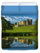 England, Northumberland, Alnwick Castle Duvet Cover