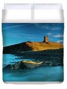 England, Northumberland, Dunstanburgh Castle Duvet Cover