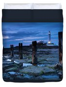 England, Tyne And Wear, St Marys Lighthouse Duvet Cover