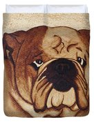English Bulldog Coffee Painting Duvet Cover