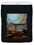 English Cottage In The Autumn Duvet Cover