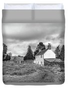 English Cottage In Winter Duvet Cover
