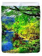 English Country Lake 1d Duvet Cover