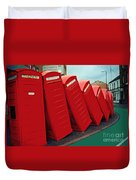 English Domino Effect Duvet Cover by Sarah Loft