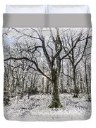 English Forest Snow Art Duvet Cover
