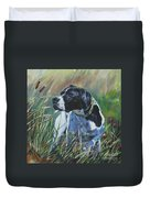 English Pointer In The Field Duvet Cover