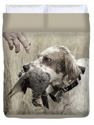 English Setter And Hungarian Partridge - D003092a Duvet Cover