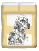English Setter And Pup Duvet Cover
