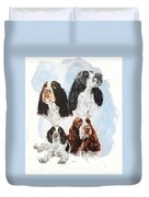 English Springer Spaniel W/ghost Duvet Cover
